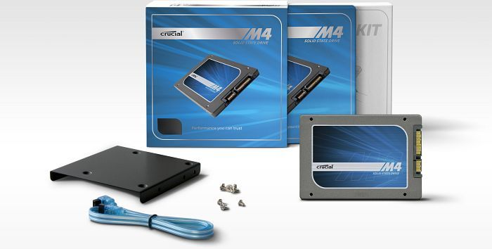 "Crucial m4 SSD 64GB 3.5"" adapter kit, 2.5"", SATA 6Gb/s (CT064M4SSD2BAA)"