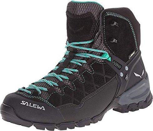 Salewa Alp Trainer Mid Gore-Tex - HALBHOHER Bergschuh Damen, Damen Trekking- & Wanderstiefel, Schwarz (Black Out/Agata 0969), 40 EU (6.5 Damen UK)
