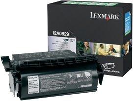 Lexmark Return Etiketten Toner 12A0829 schwarz