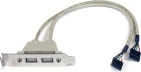 StarTech PCI slot bracket, 2x USB-A 2.0, low profile (USBPLATELP)