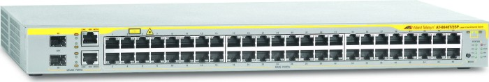Allied Telesis 8600 Rackmount Managed Switch, 48x RJ-45, 2x RJ-45/SFP (AT-8648T/2SP)