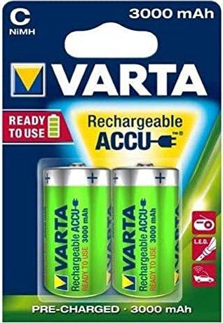 Varta Power Accu HR14-C, NiMH, 1.2V, 2200mAh, 2er-Pack (56614-101-402) -- via Amazon Partnerprogramm