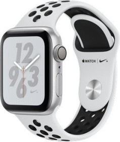 Apple Watch Nike+ Series 4 (GPS) Aluminium 40mm silber mit Sportarmband platinum/schwarz (MU6H2FD/A)