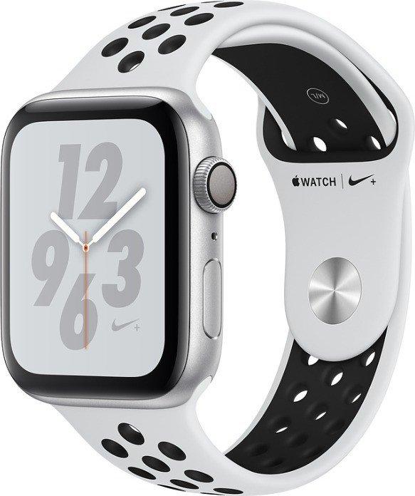 Apple Watch Nike+ Series 4 (GPS) 44mm Silver Aluminium Case with Pure Platinum/Black Nike Sport Band (MU6K2FD/A)