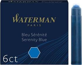 Waterman Tintenpatrone blau, 6er-Pack (S0110950)
