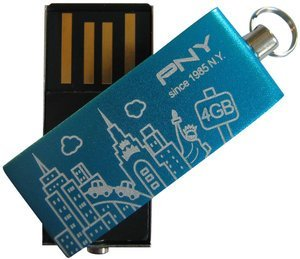 PNY Micro Attaché City blue 4GB, USB 2.0 (P-MICROFD4GBCITY-BX)
