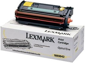 Lexmark 10E0042 toner żółty