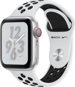 Apple Watch Nike+ Series 4 (GPS + Cellular) Aluminium 40mm silber mit Sportarmband platinum/schwarz (MTX62FD/A)