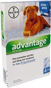 Bayer Advantage 400 for dogs, 4x 4.0ml