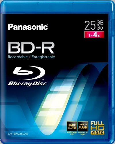 Panasonic BD-R 25GB 4x, 1-pack Videobox (LM-BRU25LAE) -- via Amazon Partnerprogramm