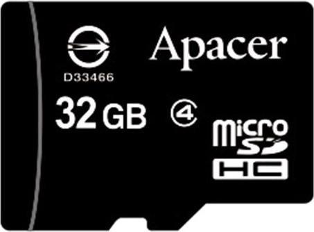 Apacer microSDHC 32GB, Class 4 (AP32GMCSH4-RA)