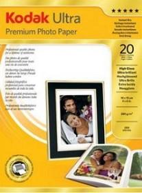 Kodak Ultra Premium Fotopapier hochglänzend 10x15cm, 280g/m², 20 Blatt (3936754)