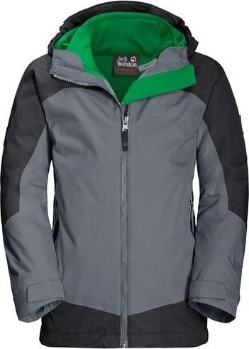 Jack Wolfskin Akka 3in1 Jacke pebble grey (Junior) (1606771-6505)