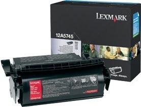 Lexmark Toner 12A5745 schwarz hohe Kapazität
