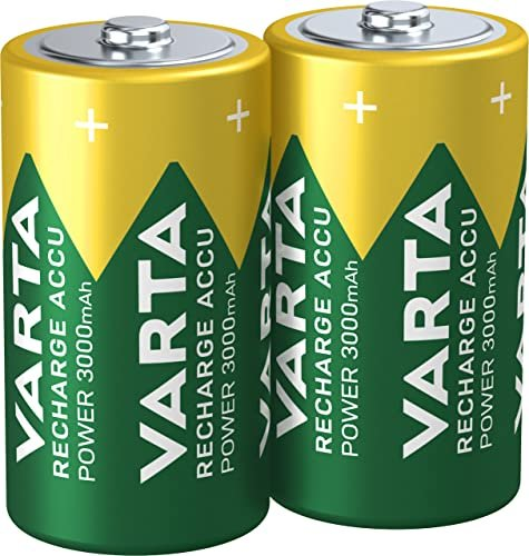 Varta Power Accu HR14-C, NiMH, 1.2V, 3000mAh, 2er-Pack (56714-101-402) -- via Amazon Partnerprogramm