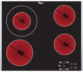 Whirlpool AKT 8130/LX Glaskeramik-Kochfeld Autark