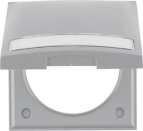 Berker Integro FLOW Rahmen mit Klappdeckel, grau glänzend (919882506)