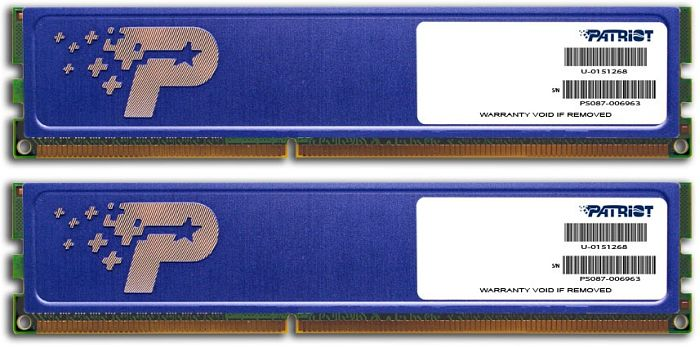 Patriot signature Line DIMM kit 8GB PC3-10667U CL9 (DDR3-1333) (PSD38G1333KH)