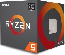 AMD Ryzen 5 2600X, 6C/12T, 3.60-4.20GHz, boxed mit Wraith Max (YD260XBCAFMAX)