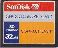 SanDisk CompactFlash Card [CF] Shoot&Store 50 32MB (SDCFS-32)