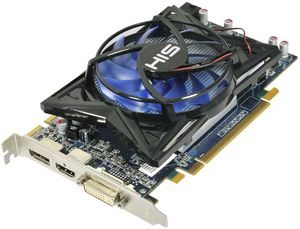 HIS Radeon HD 6750 Fan, 1GB GDDR5, DVI, HDMI, DisplayPort (H675F1GD)