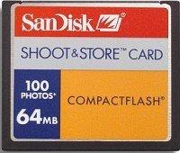 SanDisk CompactFlash Card [CF] Shoot&Store 100 64MB (SDCFS-64)