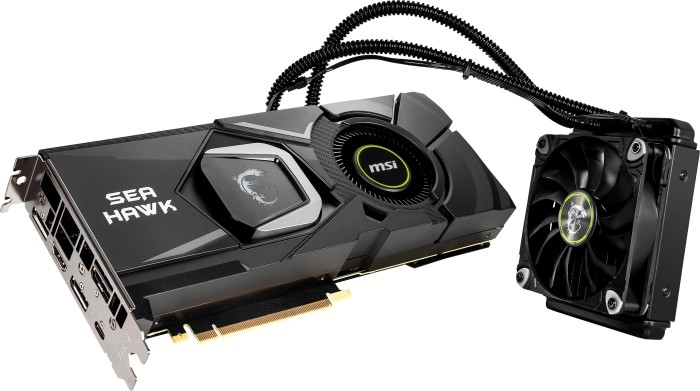 MSI GeForce RTX 2080 Sea Hawk X, 8GB GDDR6, HDMI, 3x DP, USB-C (V372-008R)