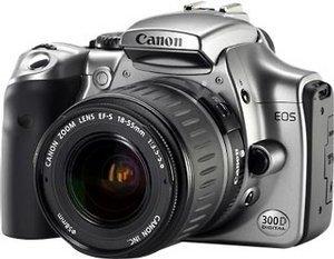 Canon EOS 300D czarny z obiektywem innej marki