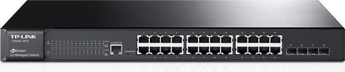 TP-Link T2600G JetStream Rackmount Gigabit Managed Switch, 24x RJ-45, 4x SFP (T2600G-28TS (TL-SG3424))