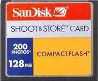 SanDisk CompactFlash Card [CF] Shoot&Store 200 128MB (SDCFS-128)