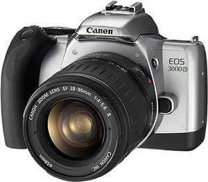 Canon EOS 3000V (SLR) with lens EF 28-90mm and EF 90-300mm (9115A009)