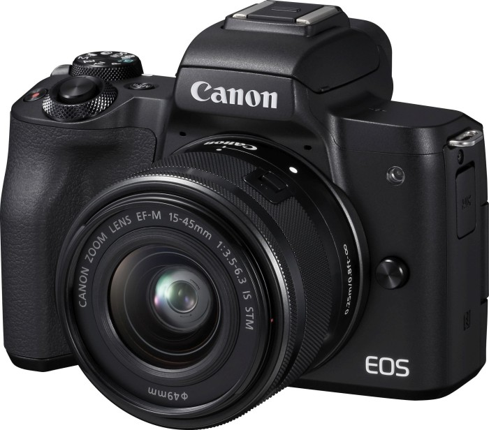 Canon EOS M50 black with lens EF-M 15-45mm 3.5-6.3 IS STM (2680C012)