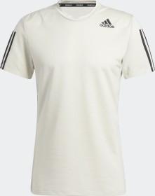 adidas Primeblue Aeroready 3 Stripe Slim shirt short-sleeve aluminium (men) (GQ2162)