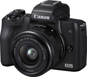 Canon EOS M50 black with lens EF-M 15-45mm IS STM and EF-M 22mm STM (2680C032)