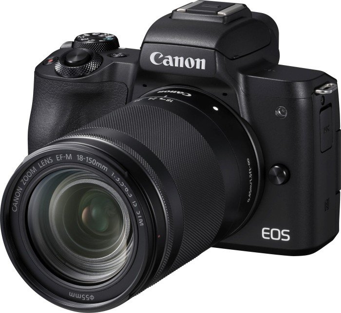 Canon EOS M50 black with lens EF-M 18-150mm 3.5-6.3 IS STM (2680C042)