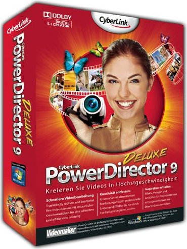 CyberLink: Power Director 9.0 Deluxe (German) (PC) -- via Amazon Partnerprogramm