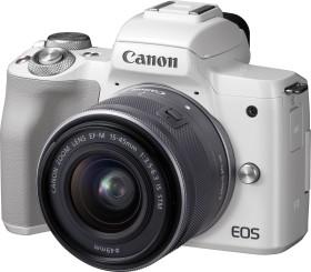 Canon EOS M50 weiß mit Objektiv EF-M 15-45mm IS STM und EF-M 22mm STM (2681C032)