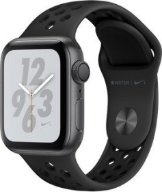 Apple Watch Nike+ Series 4 (GPS) Aluminium 40mm grau mit Sportarmband anthrazit/schwarz (MU6J2FD/A)
