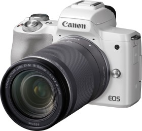 Canon EOS M50 white with lens EF-M 18-150mm 3.5-6.3 IS STM (2681C042)