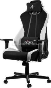 Nitro Concepts S300 Radiant White Bürostuhl, schwarz/weiß (NC-S300-BW)