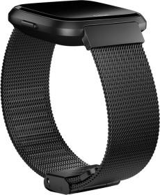 Fitbit replacement bracelet Feinmaschiger stainless steel for Versa black (FB166MMBK)
