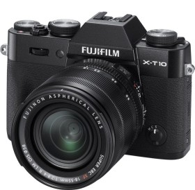 Fujifilm X-T10 schwarz mit Objektiv XC 16-50mm OIS II und XC 50-230mm OIS II (16470506)