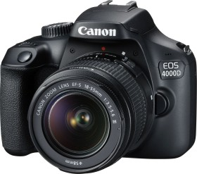 Canon EOS 4000D with lens EF-S 18-55mm 3.5-5.6 III (3011C003)