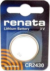 3 x Renata Batterie CR2430 Lithium 3V Knopfbatterie CR 2430 Knopfzelle