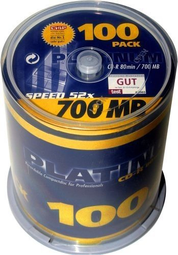 BestMedia Platinum CD-R 80min/700MB, 100er-Pack