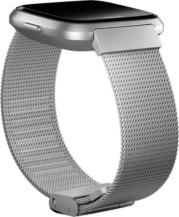 Fitbit replacement bracelet Feinmaschiger stainless steel for Versa silver  from £ 15 99