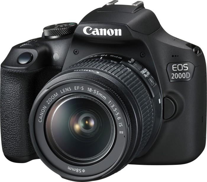 Canon EOS 2000D schwarz mit Objektiv EF-S 18-55mm 3.5-5.6 IS II (2728C003)