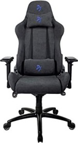 Arozzi Verona Signature Soft Fabric Gamingstuhl, schwarz/blau (VERONA-SIG-SFB-BL)
