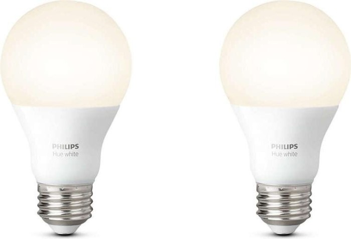 Philips Hue White Single LED-Bulb E27 9.5W/827, 2er-Pack (729113-00)