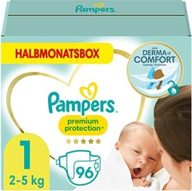 Pampers Premium Protection New Baby Gr.1 Einwegwindel, 2-5kg, 96 Stück